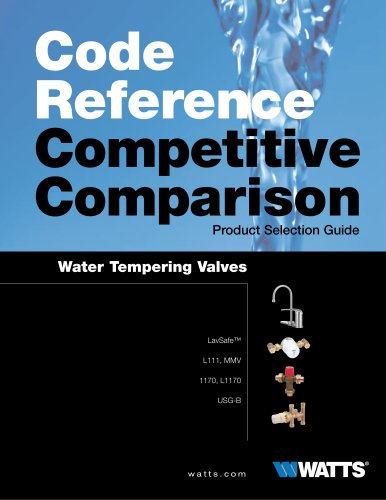 WaterTempering Valves Product Selection Guide