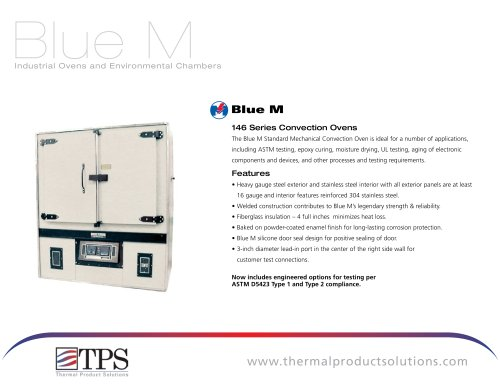 Blue M Mechanical Convection Industrial Ovens for ASTM Testing