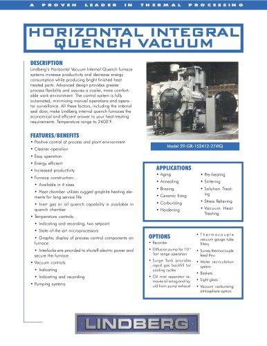 Horizontal Integral Quench Vacuum
