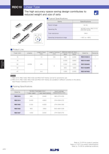 Linear Type RDC10 Series