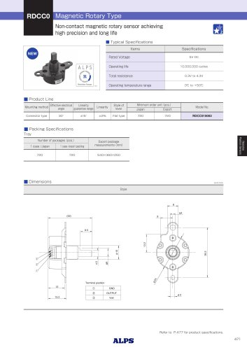 Magnetic Rotary Type RDCC0 Series