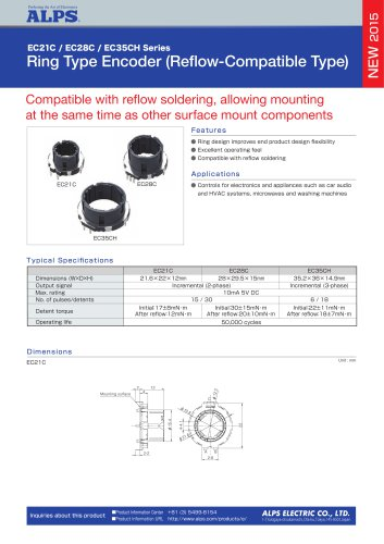 Ring Type Encoder (Reflow-Compatible Type)  EC21C / EC28C / EC35CH Series