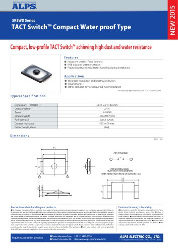 TACT Switch™ Compact Water proof Type SKSWD Series