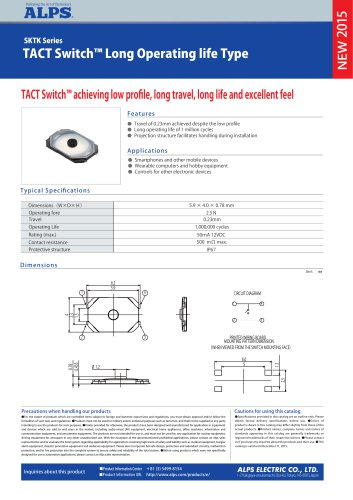 TACT Switch™ Long Operating life Type SKTK Series