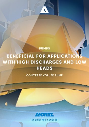 ANDRITZ Concrete volute pump - CVP Series