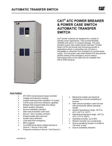 ATC Power Breaker & Power Case Switch Transfer Switch