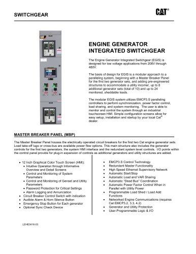 EGIS- Engine Generator Integrated Switchgear