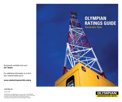 Olympian Generator Sets Ratings Guide