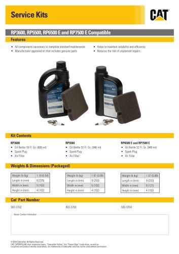 RP6500 E and RP7500 E Service Kit