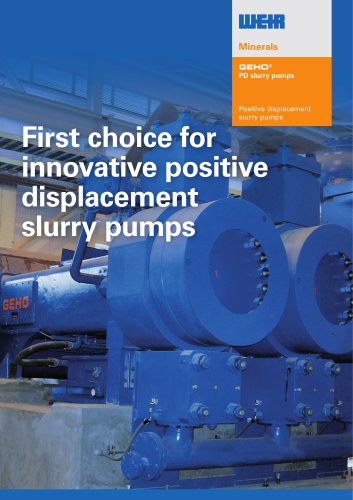 Brochure GEHO PD pump range