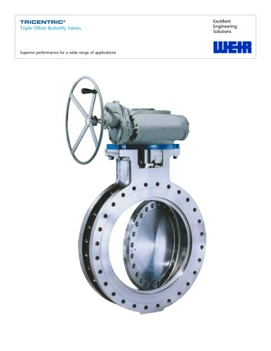 Product Brochure: Tricentric Butterfly Valves