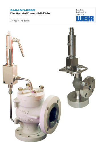Sarasin-RSBD Pilot Operated Safety Relief Valve