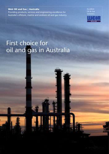 Weir: First Choice for Oil & Gas