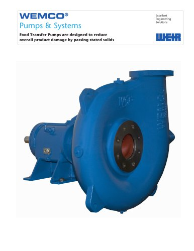 WEMCO Food Transfer Pump