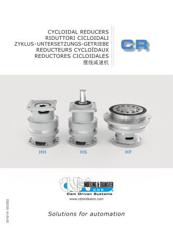 CR Cycloidal reducers