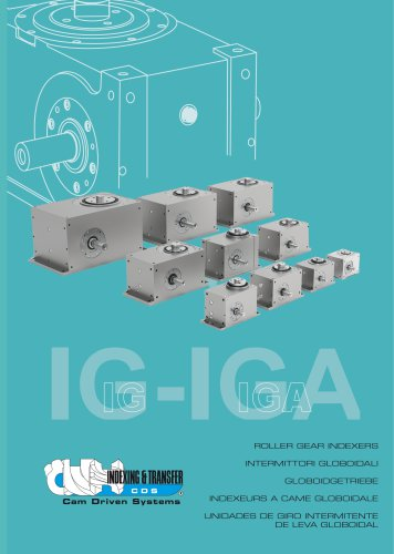 IG-IGA Roller gear index drives