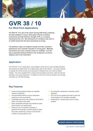 GVR 38 / 10 For Wind Farm Applications