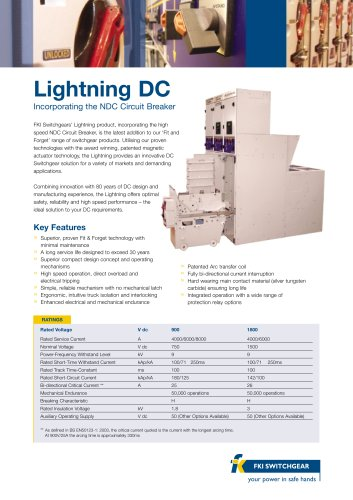 Lightning Data Sheet