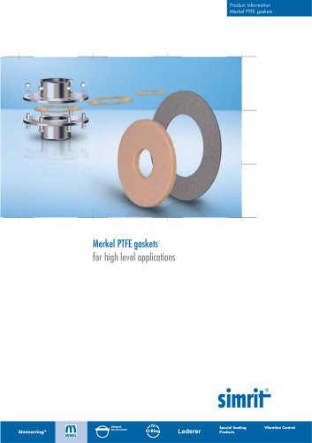 Merkel PTFE gaskets  for high level applications