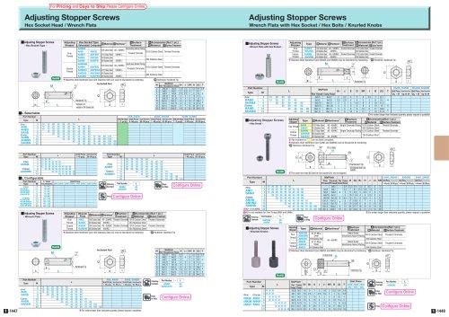 Adjusting Stopper Screws Hex Socket Head / Wrench Flats