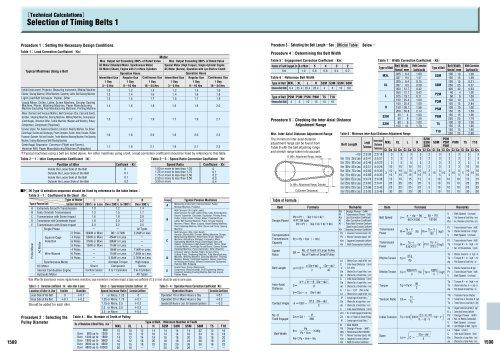 Pully & Belt Configurator MISUMI Metric Catalog