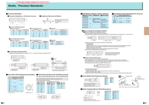 Shafts - Precision Standards -