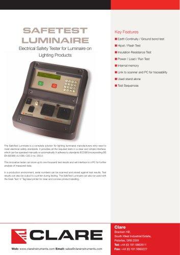 Clare SafeTest Luminaire (STL) Datasheet