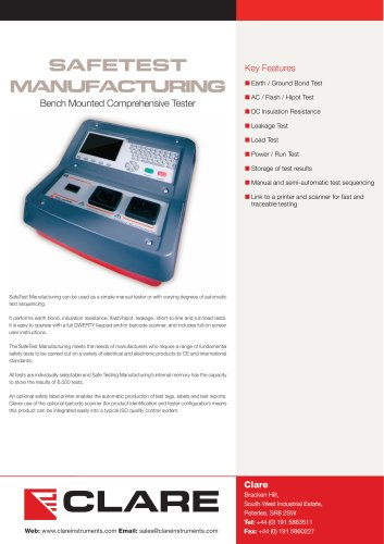 Clare SafeTest Manufacturing (STM) Datasheet