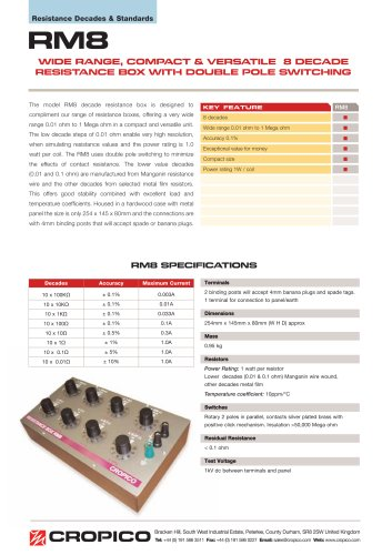 Cropico RM8 Datasheet