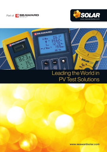 Leading the World in PV Test Solutions