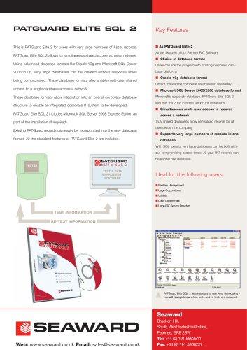 PATGuard Elite SQL 2 Datasheet