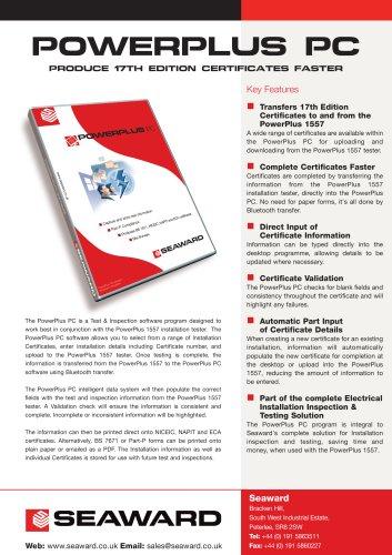 PowerPlus PC Software - Datasheet