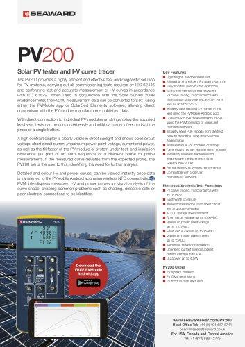PV200 Solar PV Installation Tester