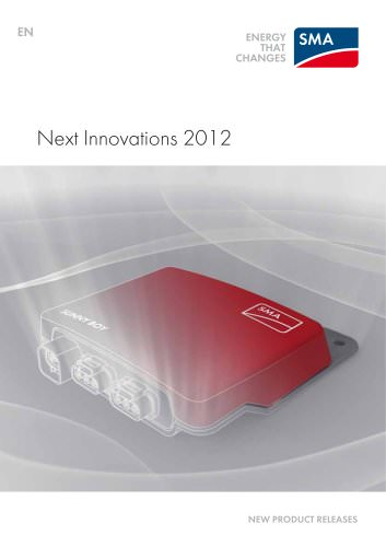 Next Innovations 2012 - NEW PRODUCT RELEASES