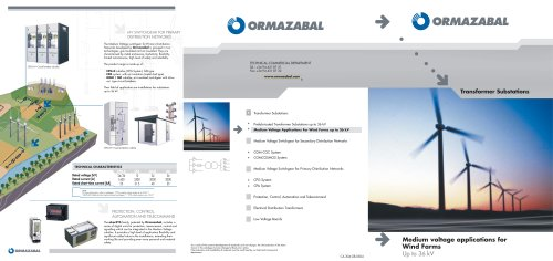 Medium voltage applications for wind farms