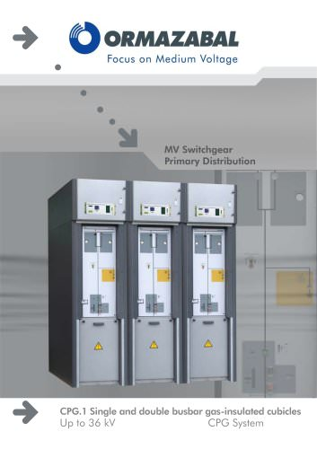 MV Switchgear for Primary Distribution CPG.1