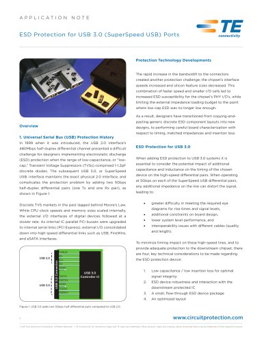 ESD Protection for USB3.0
