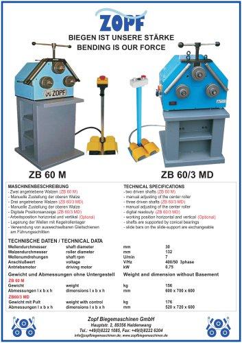 Bendingmachines model ZB 60