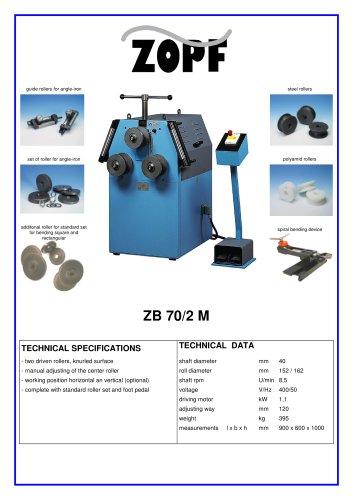 Bendingmachines model ZB 70