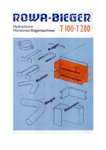 hydraulic-bending-press - T100, T280