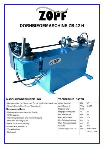 Mandrel-bendingmachines model ZB 42 H
