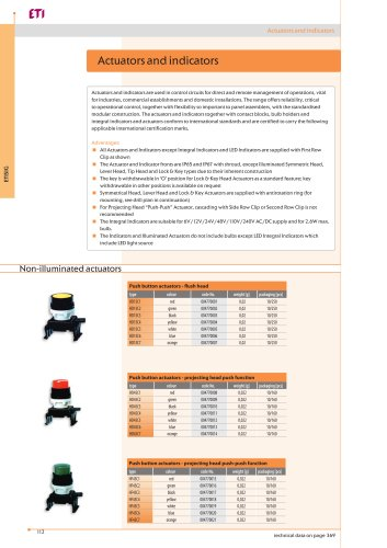 Actuators and Indicators