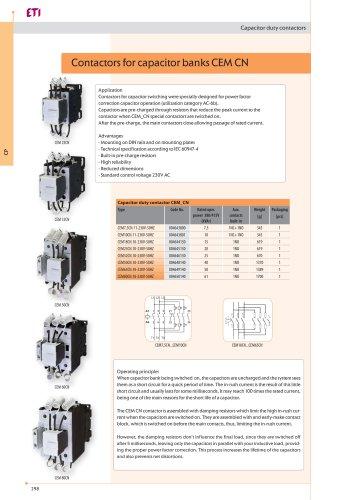 Capacity Duty Contactors CEM_CN