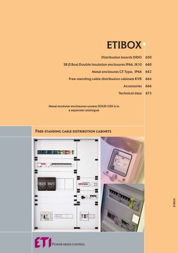 ETIBOX : DISTRIBUTION BOARDS, METER BOARDS, UNIVERSAL BOARD COVERING, ACCESSORIES