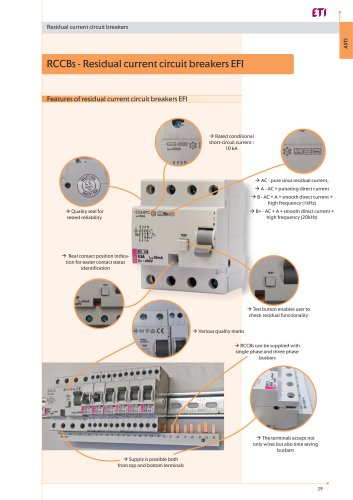 Residual current circuit breakers (RCCB) B and B+ type