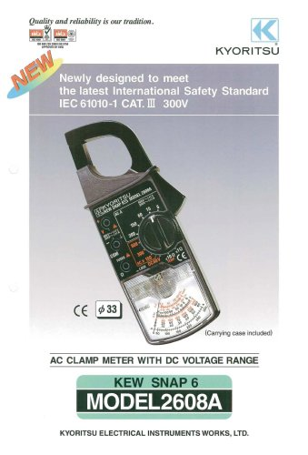 Analogue Clamp Meter 2608A