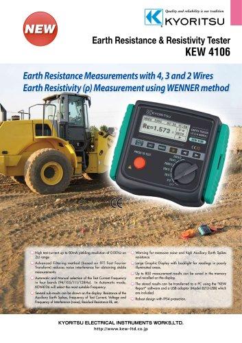 Earth Resistance & Resistivity Tester 4106