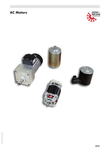 Three-phase and AC motors