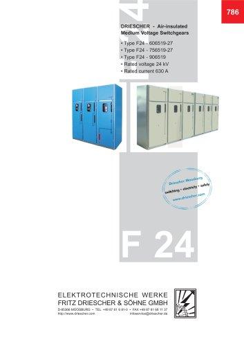 "24 kV - Switchgear in ""mobile non-withdrawable unit design"" NEW"