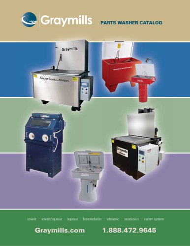 Graymills Parts Washer Catalog